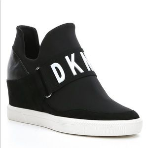 DKNY slip on hidden wedge sneaker